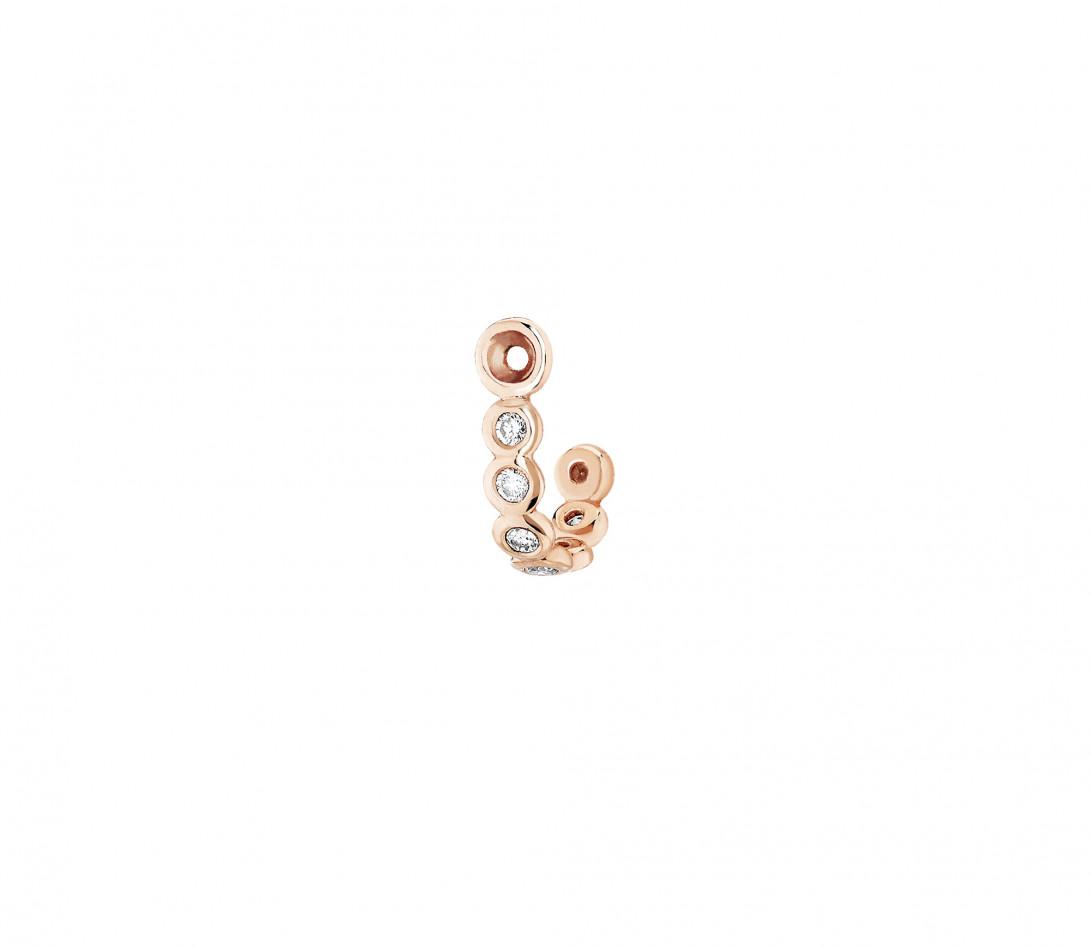 Accessoire mono boucle d'oreille ORIGINE en or rose - Vue 1