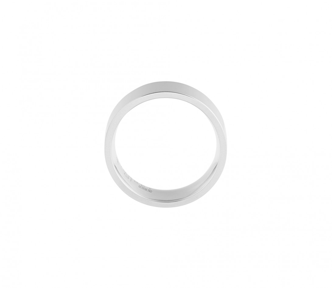 Alliance (6 mm) - Or blanc 18K (8,70 g) - Côté