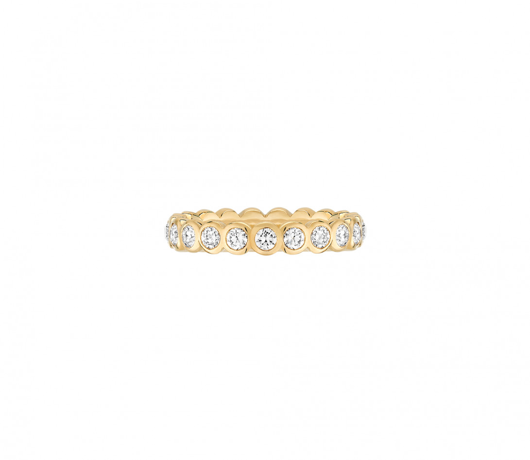 Anneau Or jaune et Diamant de synthèse 1 ct - Origine - Courbet - Vue 1