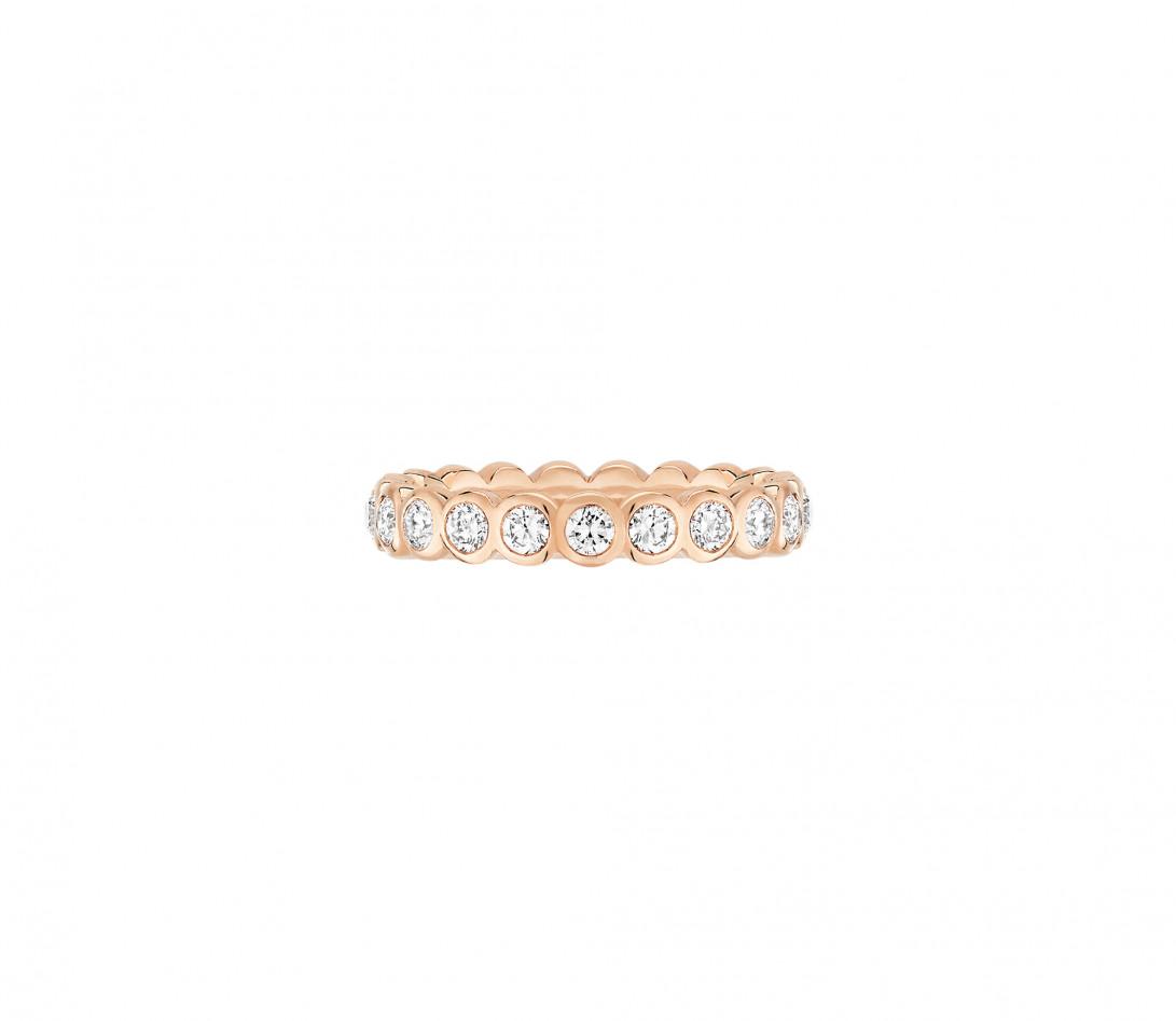 Anneau Or rose et Diamant de synthèse 1 ct - Origine - Courbet - Vue 1
