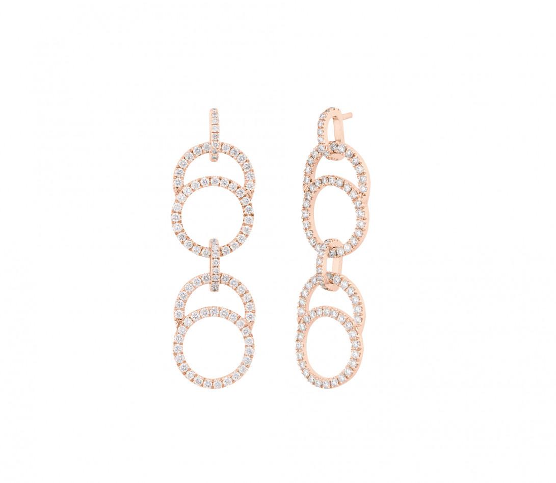 Boucles d'oreilles Céleste en or rose - Courbet - Vue 1