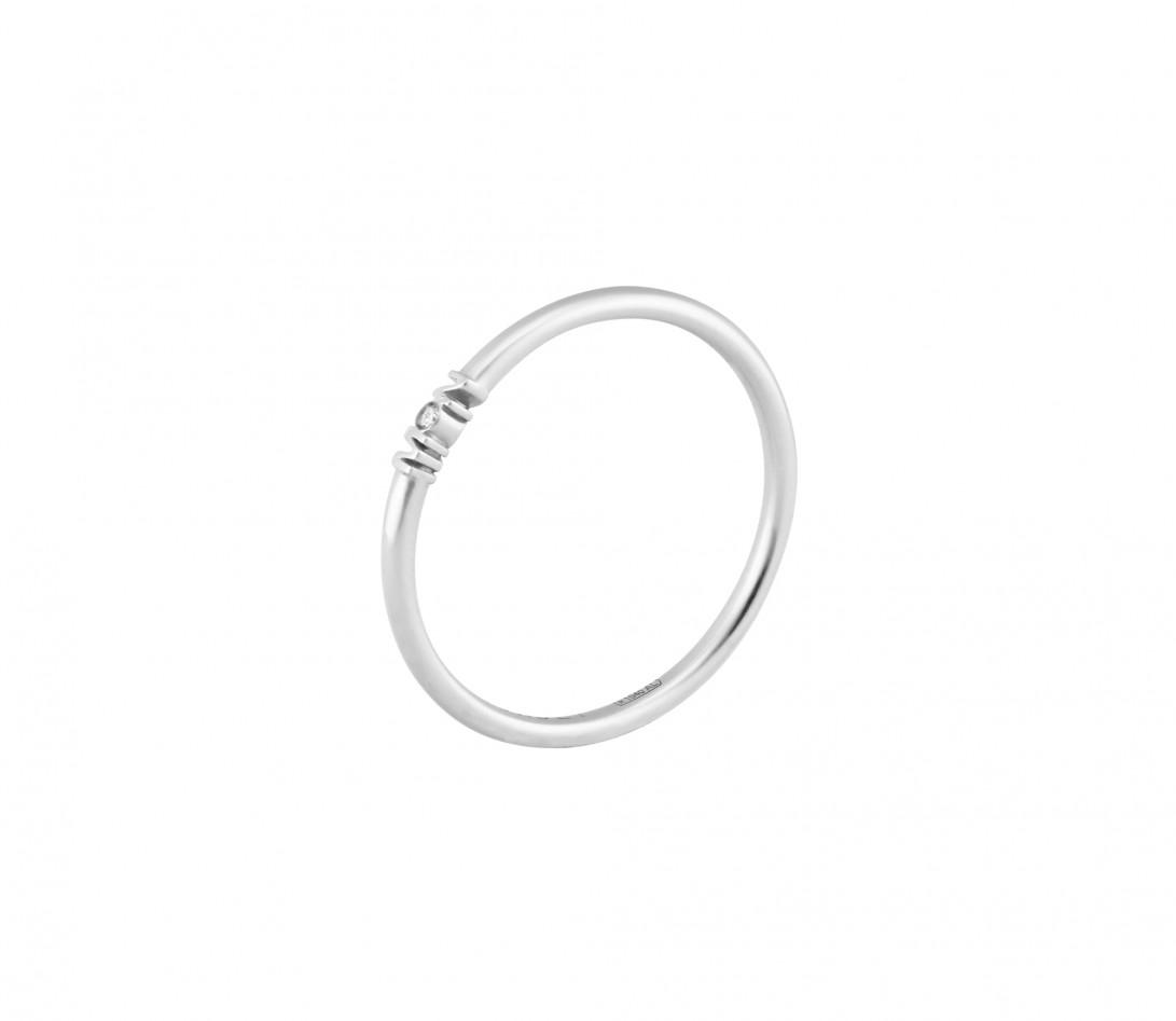 Alliance (1,4 mm) - Or blanc 18K (3,50 g) - Coté 2