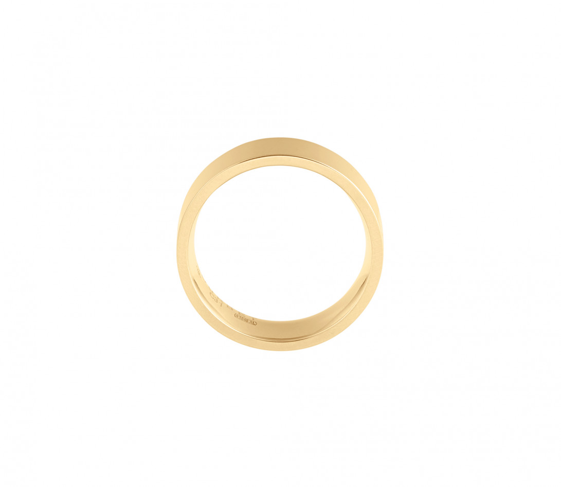 Alliance (6 mm) - Or jaune 18K (8,70 g) - Côté