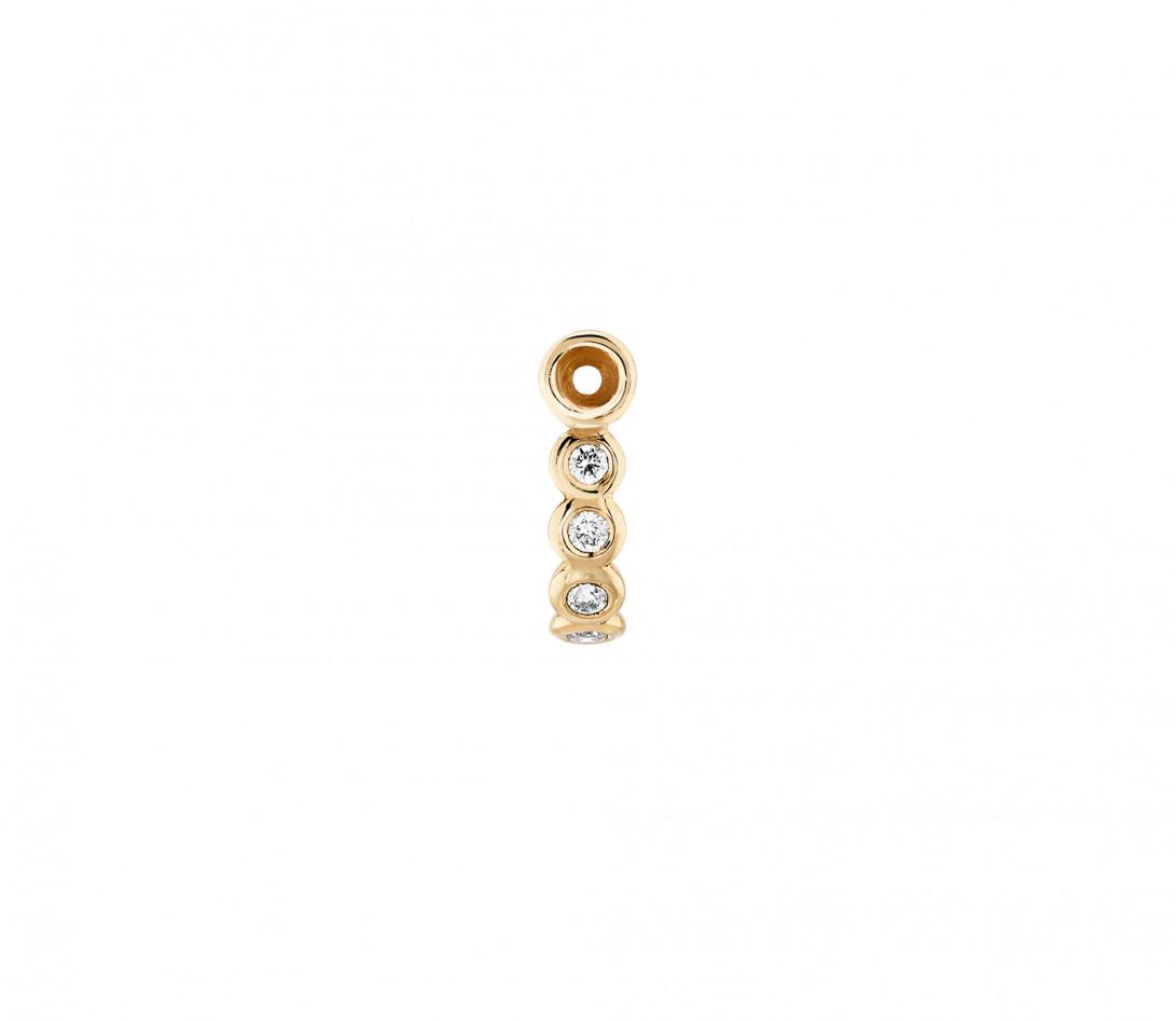 Accessoire mono boucle d'oreille ORIGINE en or jaune - Vue 2