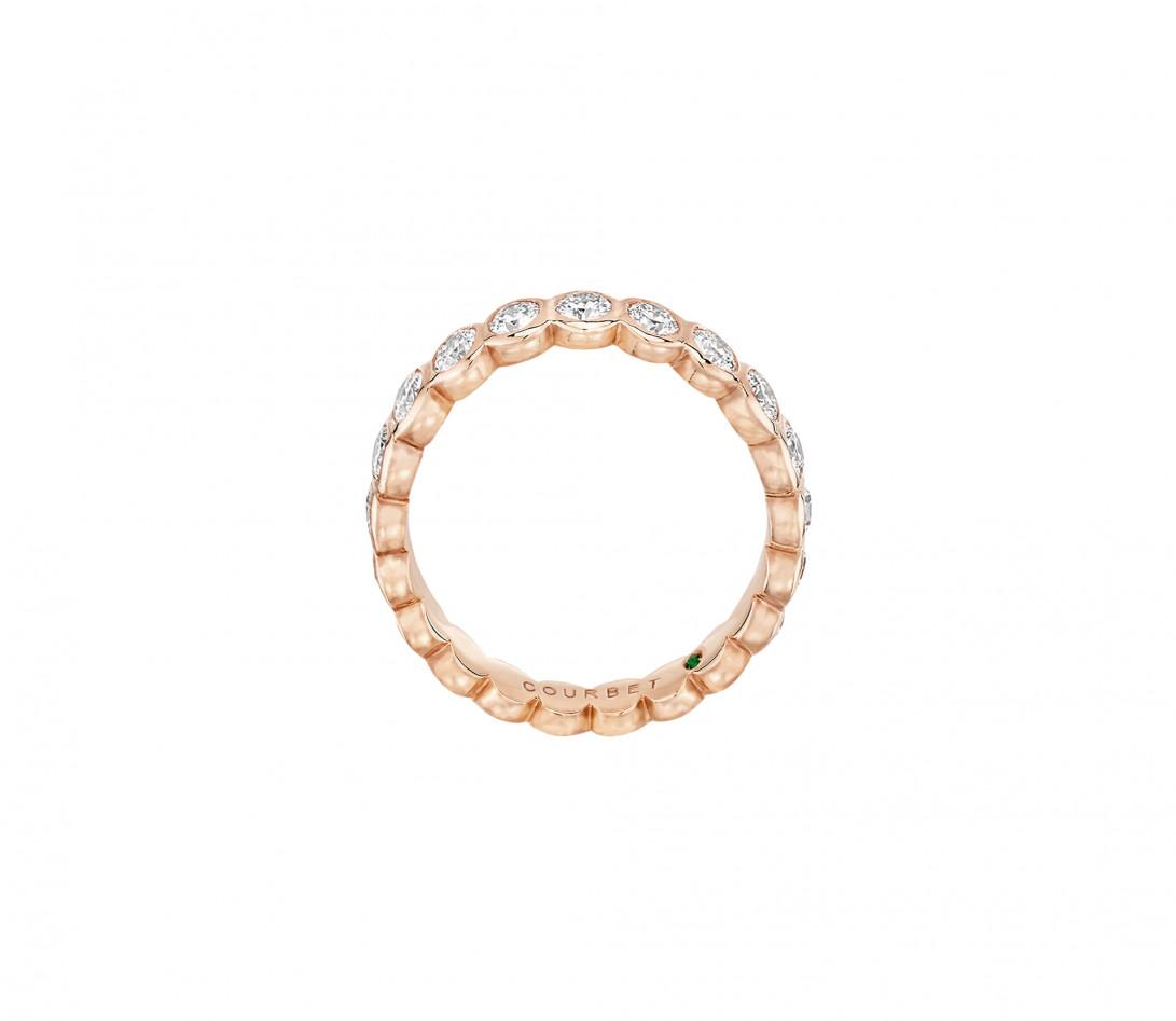 Anneau Or rose et Diamant de synthèse 1 ct - Origine - Courbet - Vue 3