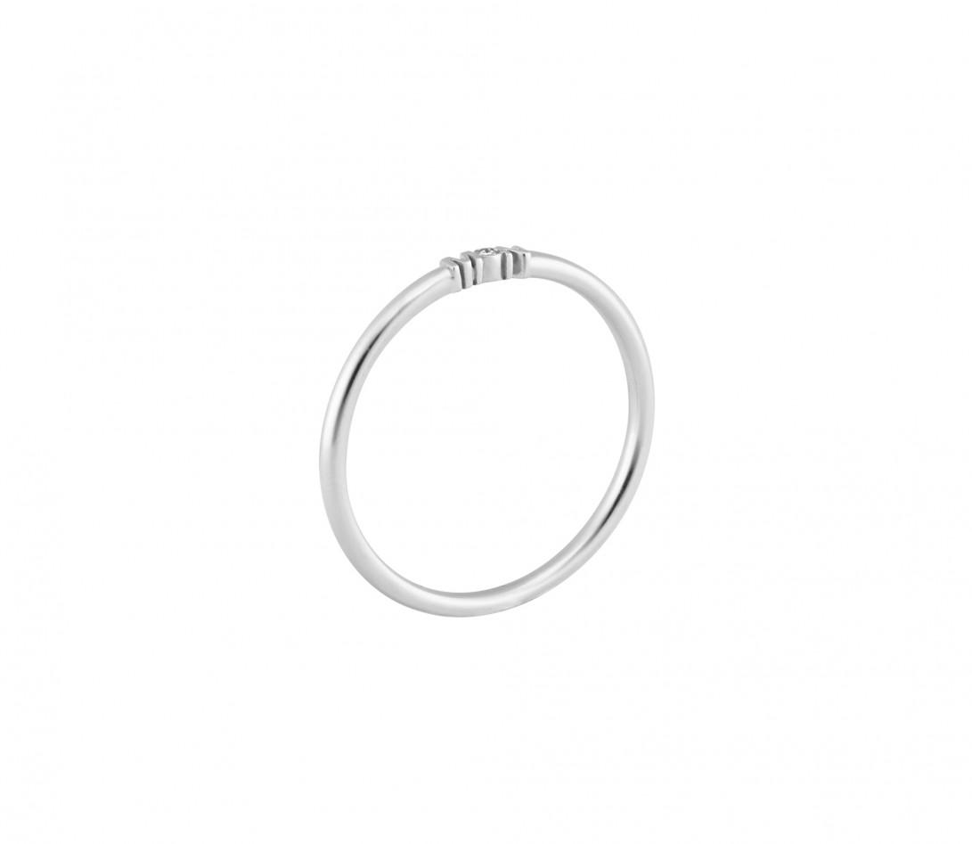 Alliance (1,4 mm) - Or blanc 18K (3,50 g) - Profil