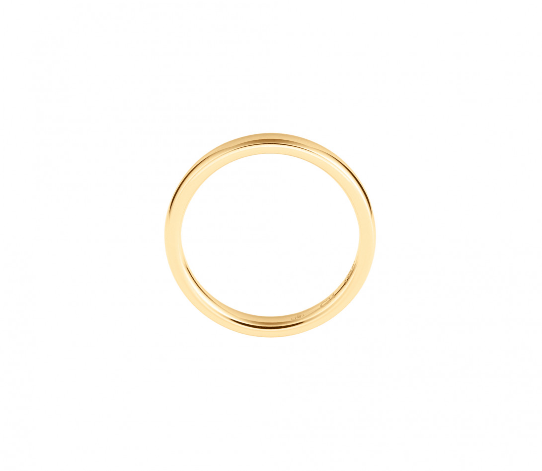 Alliance (3 mm) - Or jaune 18K (4,20 g) - Côté