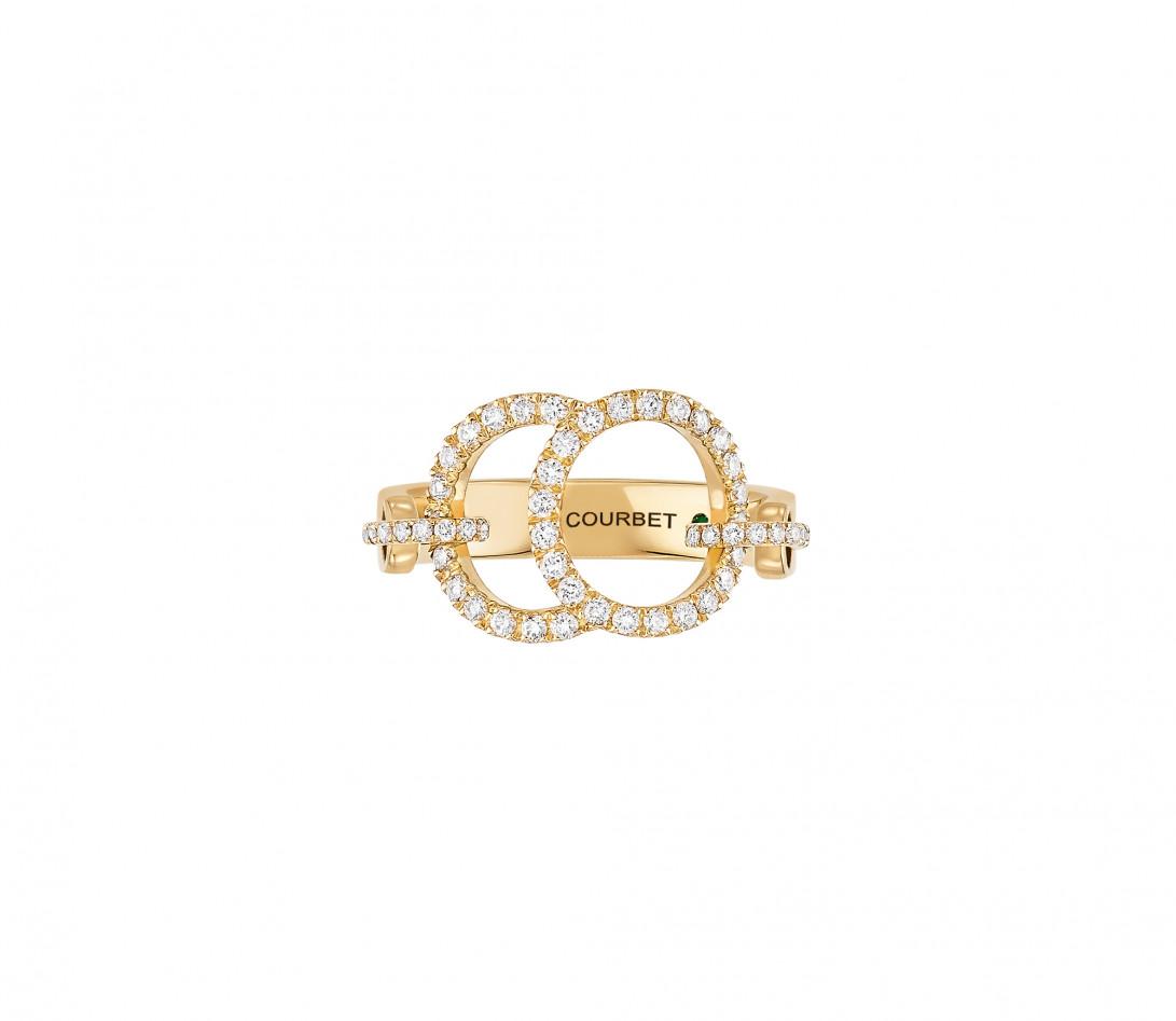 Bague Celeste - Or jaune 18K (5,20 g), diamants 0,50 ct - Face