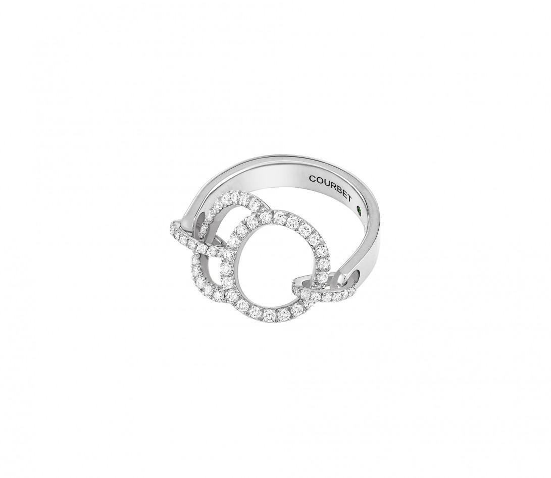 Bague Celeste - Or blanc 18K (5,20 g), diamants 0,50 ct - Vue 4