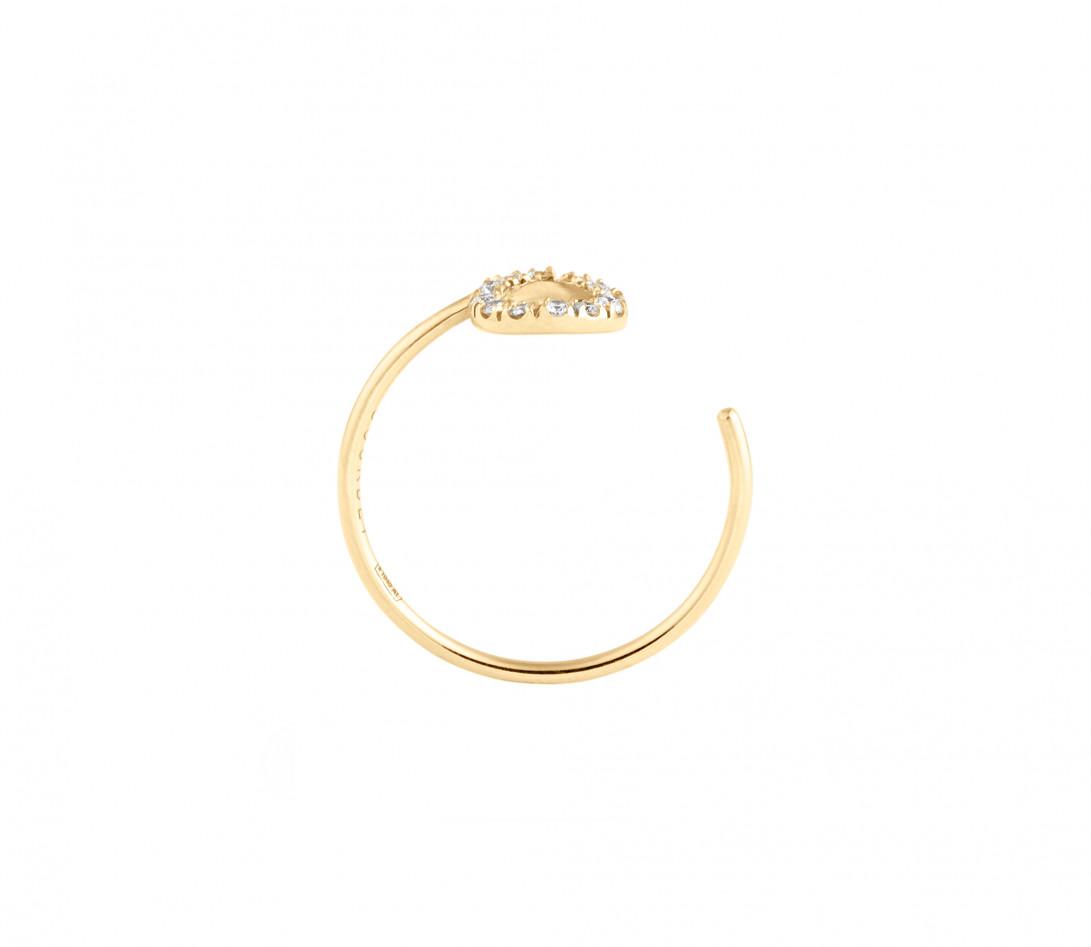 Bague O2 - Or jaune 18K (0,90 g), diamants 0,10 ct - Profil