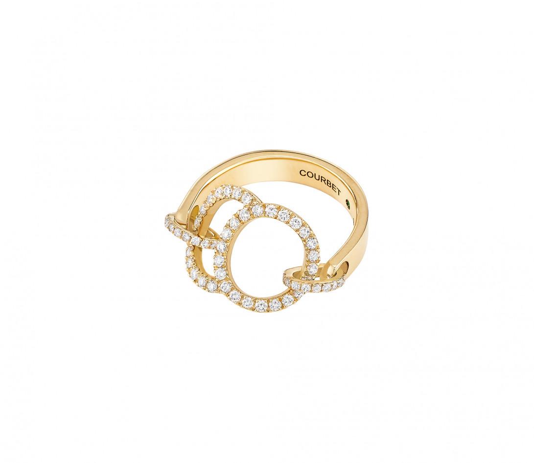 Bague Celeste - Or jaune 18K (5,20 g), diamants 0,50 ct - Vue 4