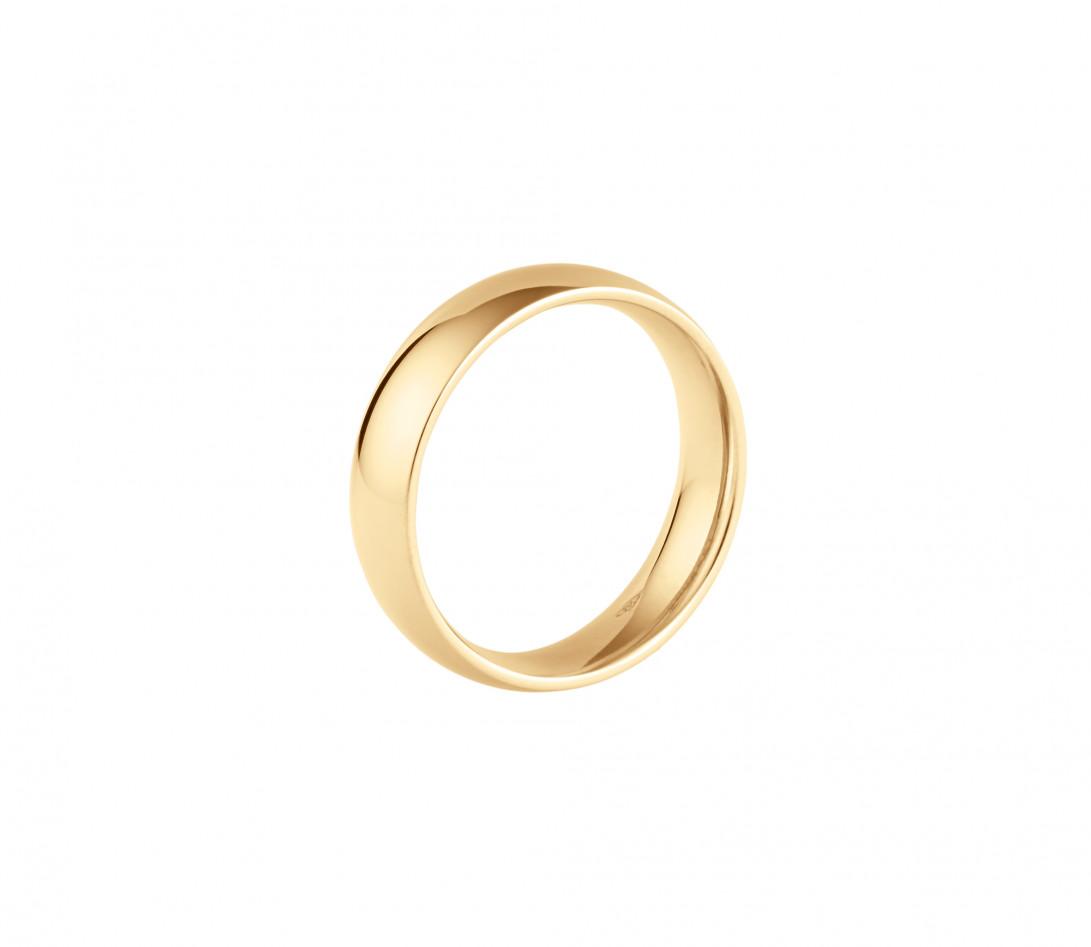 Alliance (5 mm) - Or jaune 18K (6,70 g) - Profil