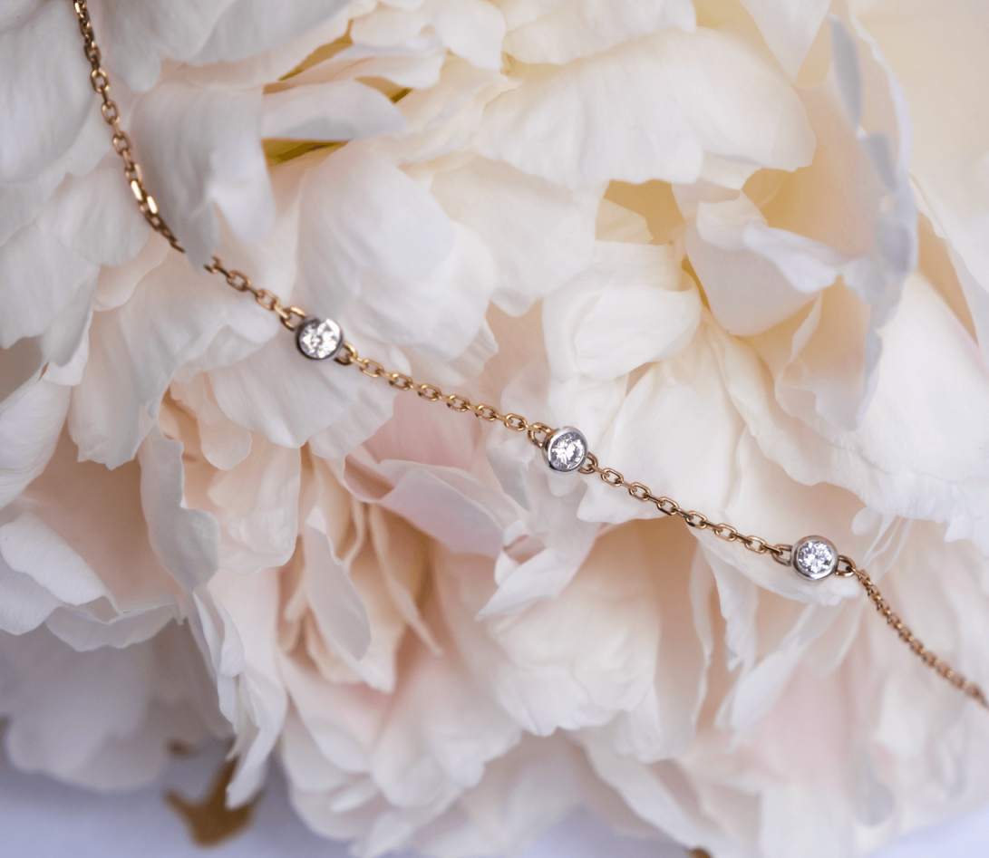Bracelet Origine - Or rose - 3 diamants - 0,3 cts - Vue 5