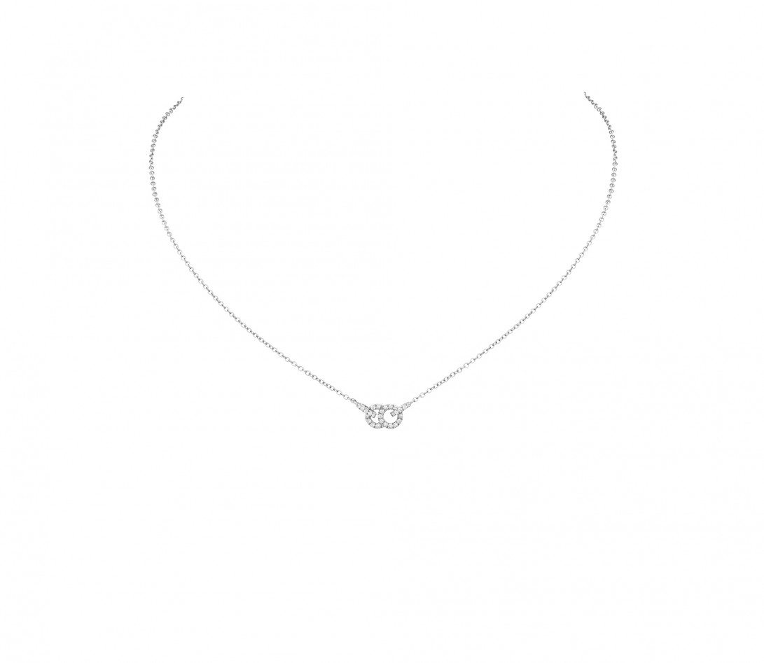 Collier pendentif CELESTE PM en or blanc - Courbet - Vue 1