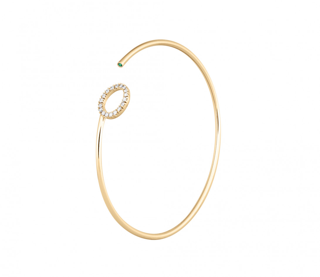 Bracelet O2 -Or jaune 18K (4,00 g), diamants 0,18 cts - Côté