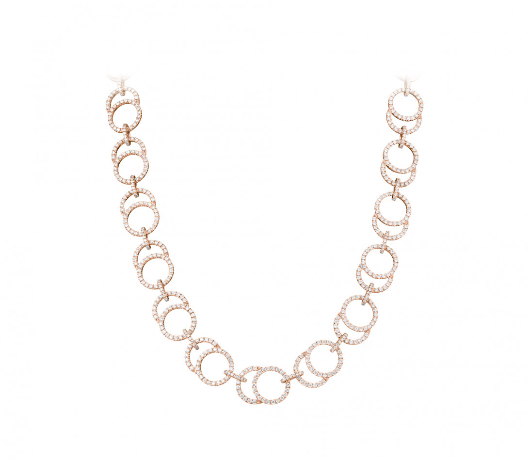 Collier Céleste Joaillerie en or rose 18K - diamants de synthèse 5,25 cts - Courbet - P1