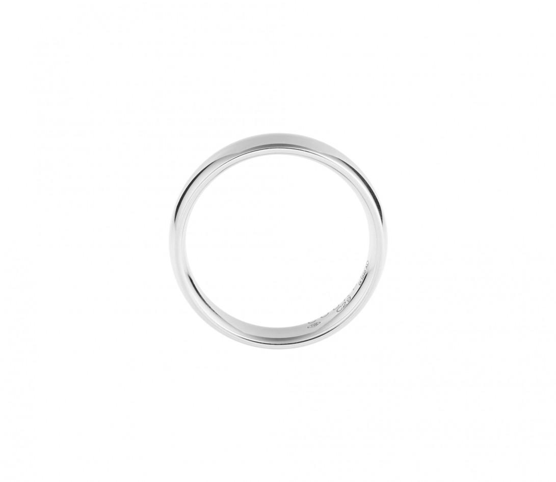 Alliance (5 mm) - Or blanc 18K (6,70 g) - Côté