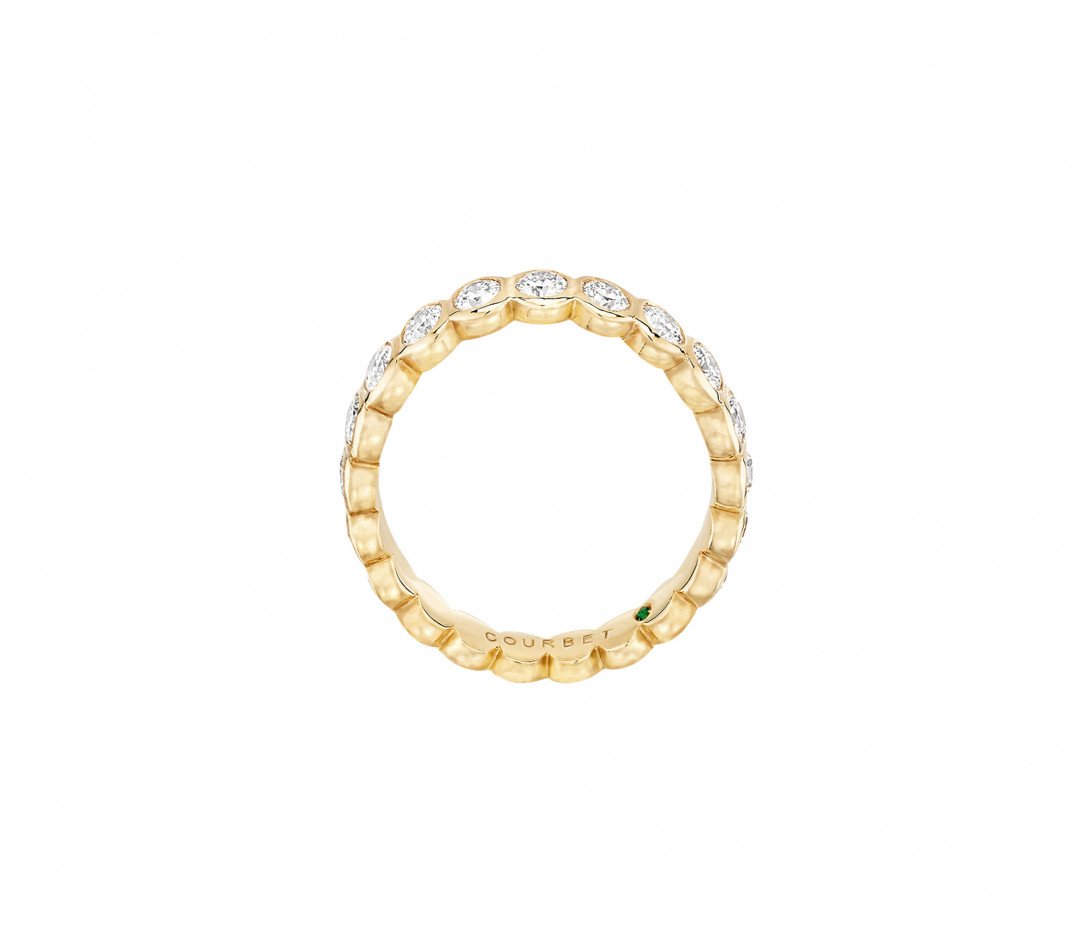 Anneau Or jaune et Diamant de synthèse 1 ct - Origine - Courbet - Vue 3