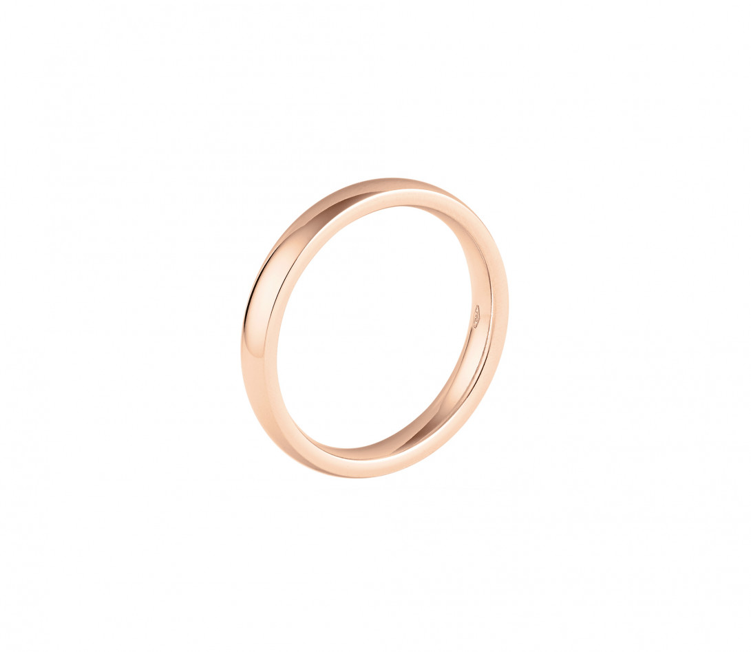 Alliance (3 mm) - Or rose 18K (4,20 g) - Intérieur
