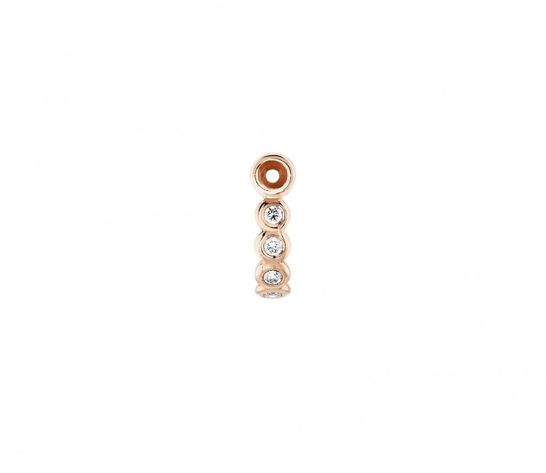Accessoire mono boucle d'oreille ORIGINE en or rose - Vue 2