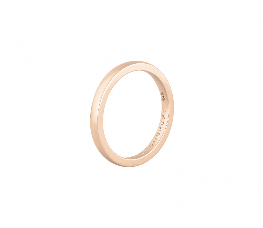 Alliance (1,8 mm) - Or rose 18K (2,00 g) - Côté