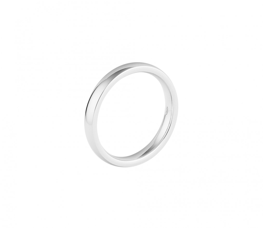 Alliance (3 mm) - Or blanc 18K (4,20 g) - Profil