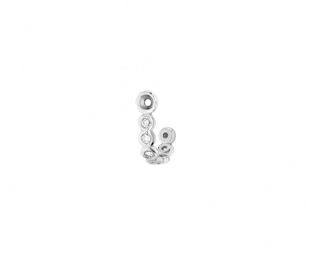Accessoire mono boucle d'oreille ORIGINE en or blanc - Vue 1