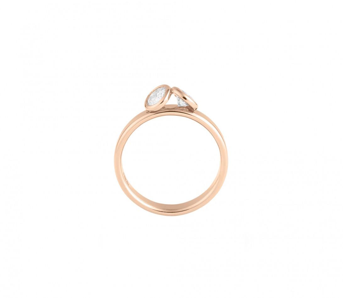 Bague 2 Courbet - Or rose 18K (3,50 g),  diamant 1 carat - Vue 2