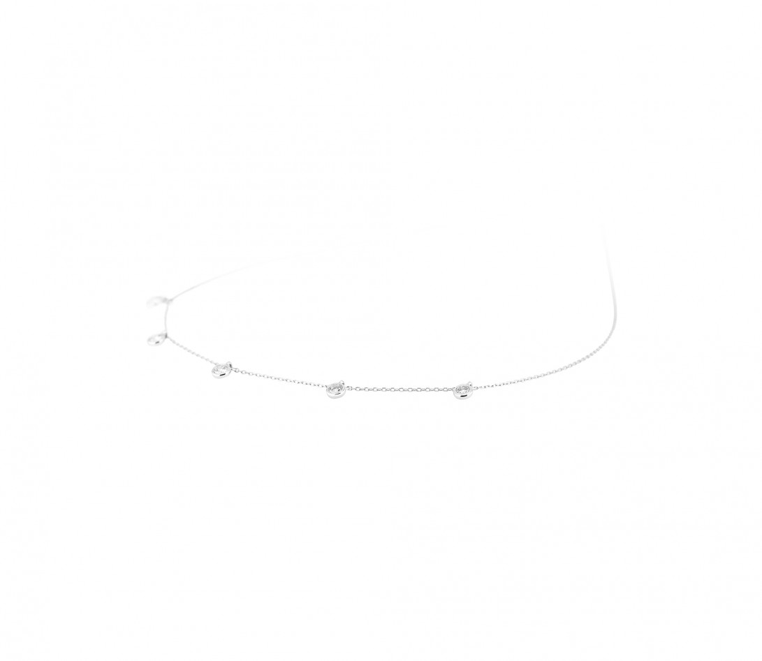 Collier Origine or blanc - Vue 2 - Courbet